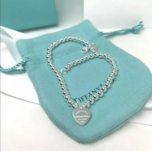 Tiffany & Co. Sterling Silver Bead Ball Nechlace